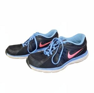 Nike Duel Fusion ST3 Running Shoes Sneakers Women's Size 8.5 Black Blue Pink